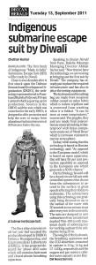Deccan Herald, 13th September 2011